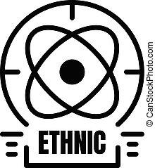 alchimie, pictogram, schets, stijl, ethnische
