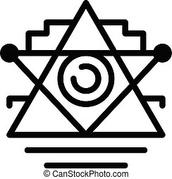 alchimie, tatoeëren, pictogram, schets, stijl