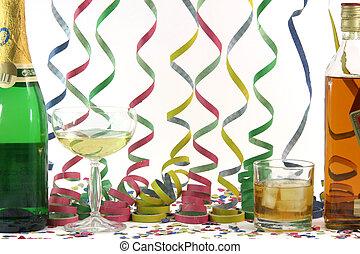 alchohol, e, celebração