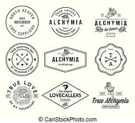 alchymia, valentines, noir, blanc