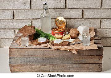 alco, ウクライナ, 食物, outdoor., スナック, 伝統的である, ロシア人