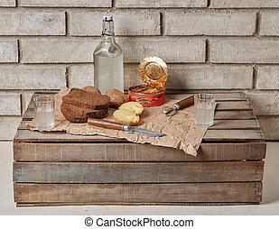 alco, ukrainisch, lebensmittel, outdoor., knabberzeug, traditionelle , russische