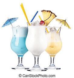 alcohólico, cóctel, conjunto