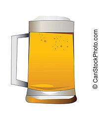 alcohólico, cerveza, bebida
