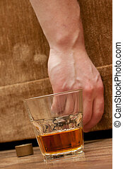 alcohol abuse concept image