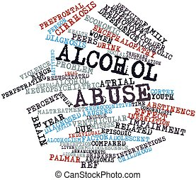 Alcohol abuse - Abstract word cloud for Alcohol abuse with...