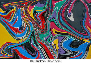 alcohol and liquid marble ink background in various colours,