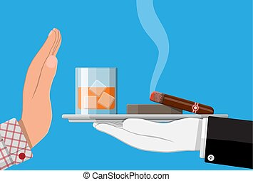 Alcohol and tobaccco abuse concept