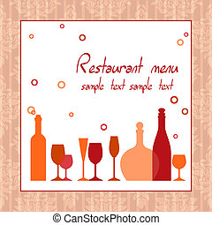 Alcohol bar or restaurant menu