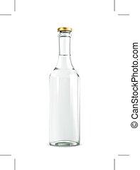 alcohol, bebida, en, botella