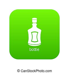 Alcohol bottle icon green