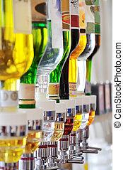 Alcohol bottles