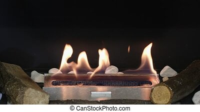 Alcohol Burning Fire Heater With Logs Home Winter