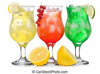 alcohol, cócteles, blanco, plano de fondo