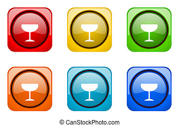 alcohol colorful web icons