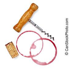 alcohol drink wine stain liquid cork opener