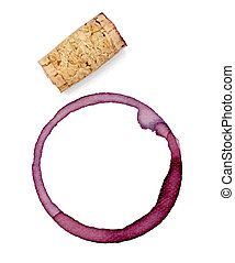 alcohol drink wine stain liquid cork opener - close up of a ...