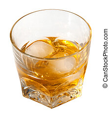 Alcohol Drink with Clipping Path