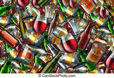 Alcohol Drinks Background - Alcohol drinks background as...