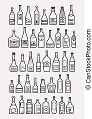 alcohol, drinks, beverage icons - icons of different...