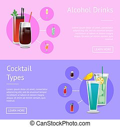Alcohol Drinks Cocktail Types Posters Bloody Mary - Alcohol...