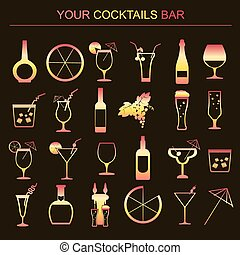 Alcohol drinks infographic. Vector