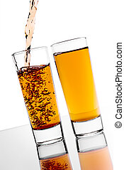 alcohol, el verter
