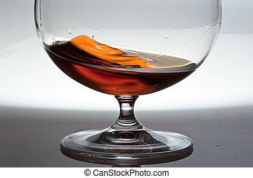 alcohol, en, vidrio, juego, de, light.