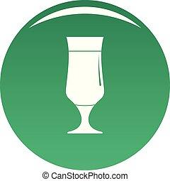 Alcohol icon vector green