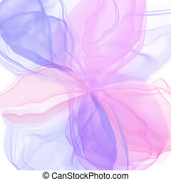 Alcohol ink pink flower. Abstract romantic background