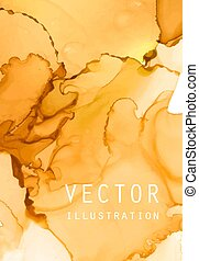 Alcohol ink vector texture. Fluid ink abstract background.