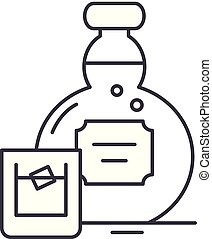 Alcohol line icon concept. Alcohol vector linear illustration, symbol, sign