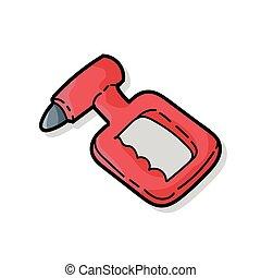 Alcohol measuring device color doodle