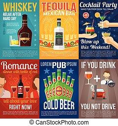 Alcohol Mini Poster Set