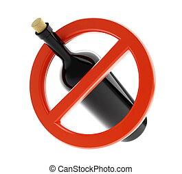 alcohol, nee, meldingsbord