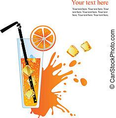 Alcohol orange cocktail