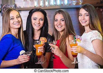 Alcohol - Party, celebration, friends, bachelorette and...