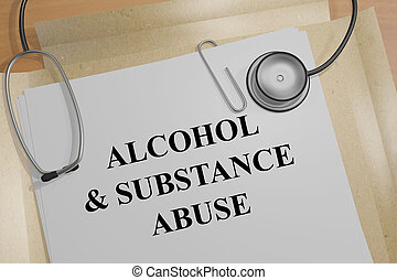 Alcohol & Substance Abuse - medical concept - 3D...