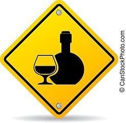alcohol, vector, señal