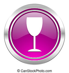 alcohol violet icon glass sign