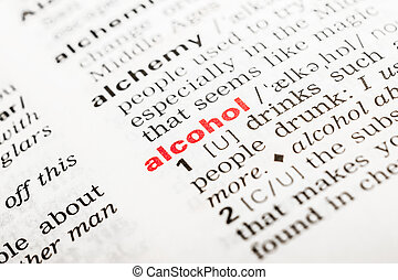 Alcohol Word Definition