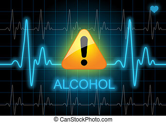ALCOHOL - written on heart rate monitor
