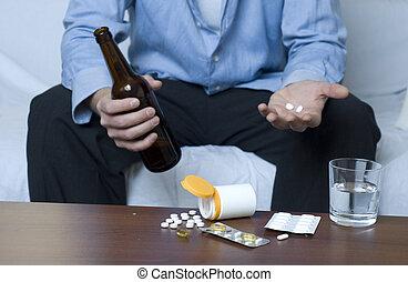alcohol, y, drogas