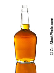 alcoholhoudend, whisky, bourbon, in, een, fles