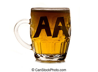 alcoholic anonymous pint of beer