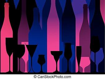 Alcoholic Bar Menu pink - Background Bottle Vector. ...