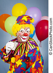 Alcoholic Clown - Humorous picture of an alcoholic clown...