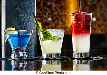 Alcoholic Cocktail in Restaurant Setting