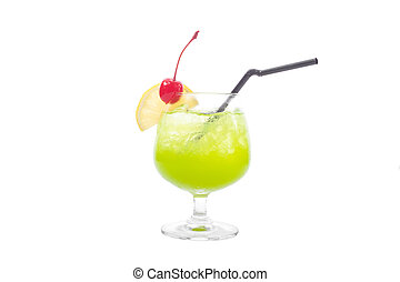 alcoholic cocktails isolated on white background