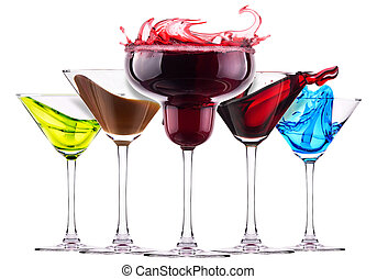 alcoholic cocktails with splash